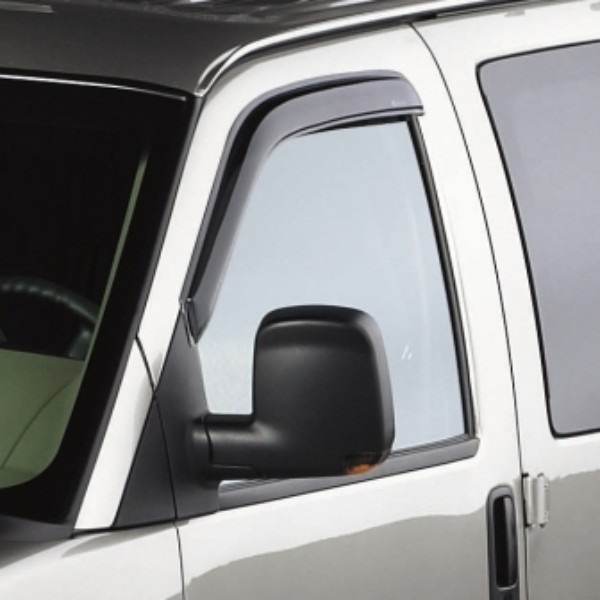 2012 Express Side Window Weather Deflector, Front Set, Smoke