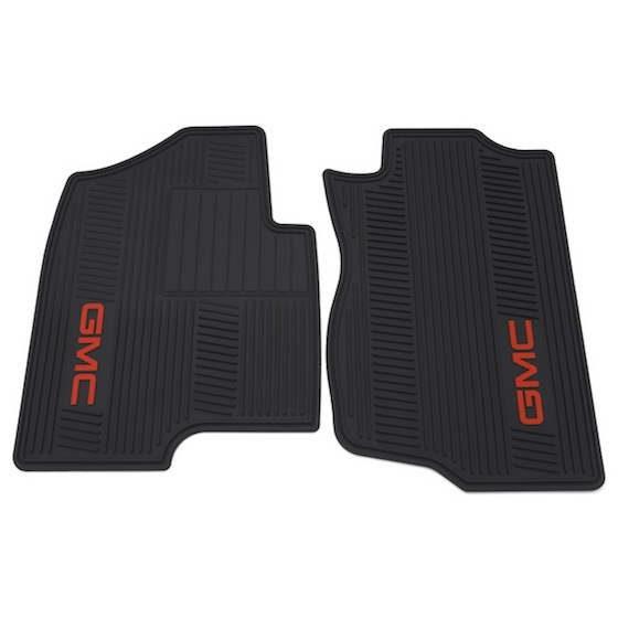 Floor Mats - Front - Premium All Weather - GMC Logo, Extended or