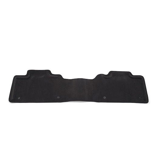 2012 Silverado 3500 Floor Mats - Rear Molded Carpet - 1 Piece, Ebony