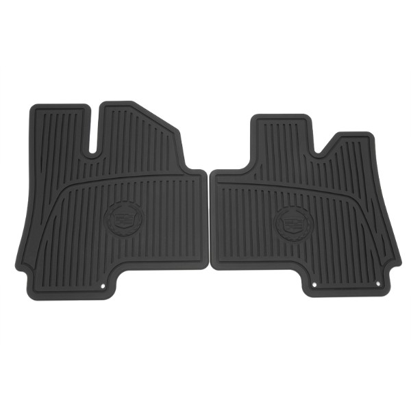2012 SRX Floor Mats, Premium All Weather, Front, Wreath and Crest Logo