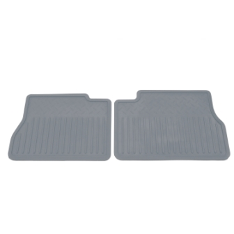 2012 Silverado 3500 Floor Mats - 2nd Row Vinyl Replacement Set 2pc, Ti