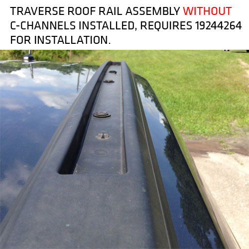 2012 Traverse Roof Rack Side Rails C Channels 19244264
