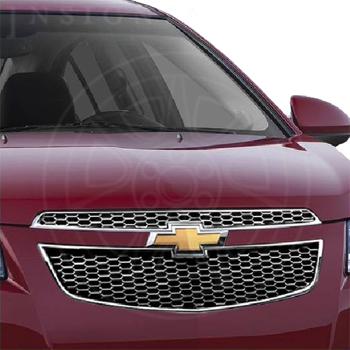 2012 Cruze Grille, Chrome Surround with Silver Painted Mesh