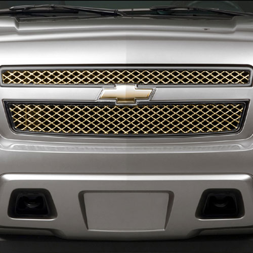 2012 Avalanche Grille - Black Chrome Finish Surround w/ Antique Bronze