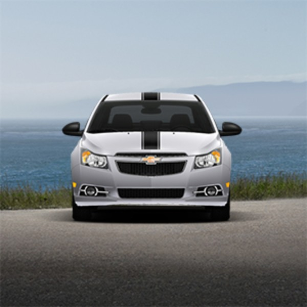 2012 Cruze Center Stripe Vinyl Wrap by Original Wraps, Matte Black