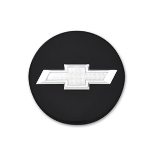 2013 Camaro Center Caps, Set of 4 - Bowtie Logo, Black with Silver Bow
