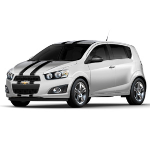 2013 Sonic Custom Graphics, Dual Stripes, Hatchback, Gloss Black