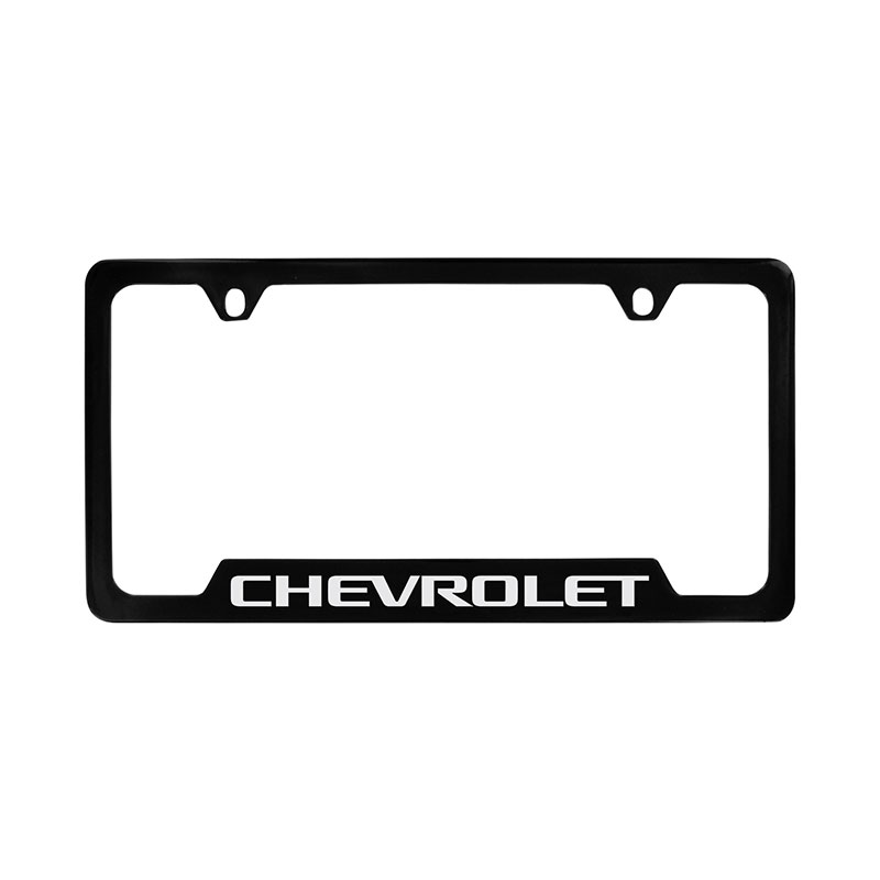 2016 Trax License Plate Holder Universal Black with Chrome Chevrolet