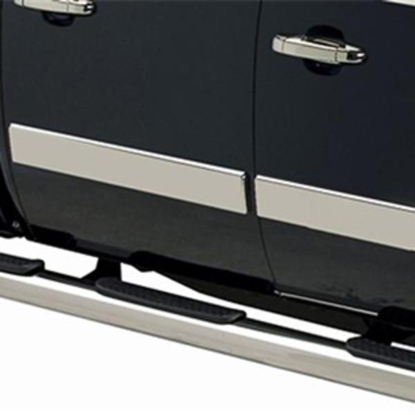 2017 Sierra 2500 Stainless Steel Rocker Panels Reg Cab 8ft