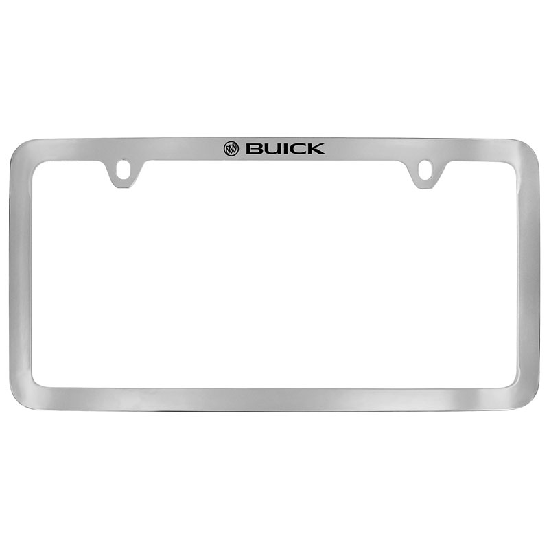 2018 Encore License Plate Frame, Chrome with Thin Buick Tri Shield Log