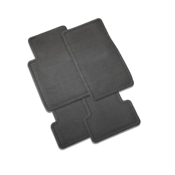 2013 CTS Coupe Floor Mats - Front & Rear Molded Carpet, Ebony