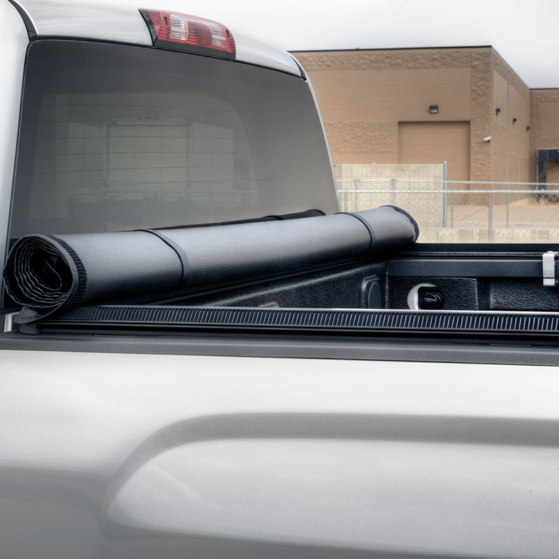 2018 Sierra 3500 Tonneau Cover, Soft Roll-Up, Vinyl, Black, 8'