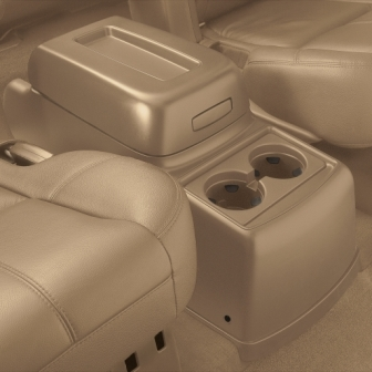 Rear Floor Console 2nd Row with Bucket Seats (AL4), Cashmere