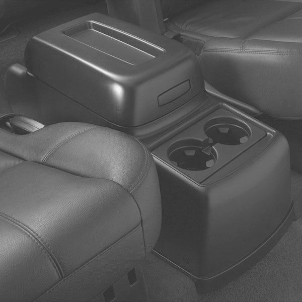 Rear Floor Console 2nd Row with Bucket Seats (AL4), Titanium