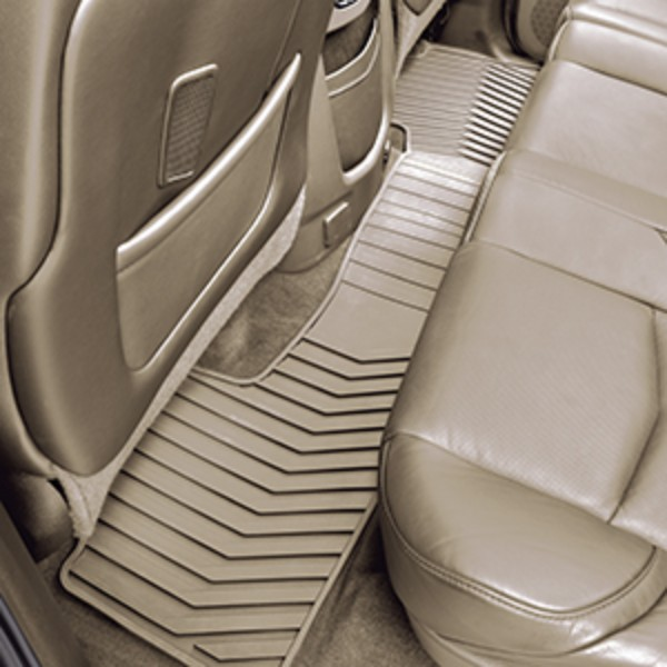 2015 Tahoe Floor Mats, Premium All Weather, Rear, Dune