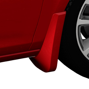 2013 Verano Splash Guards, Front Molded, Crystal Red