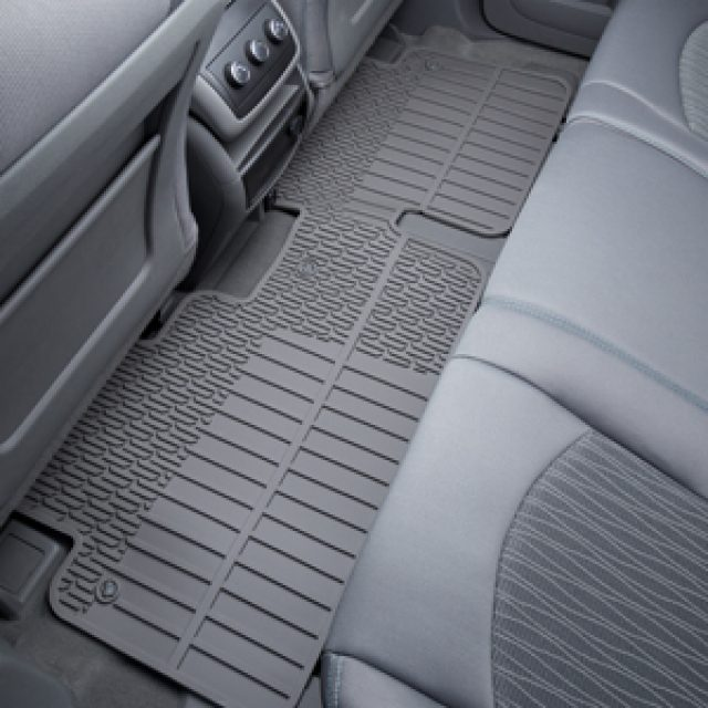 2013 Enclave Floor Mats Rear Premium All Weather, 2nd Row Split Back,