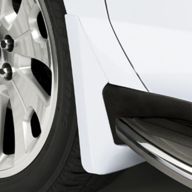 2015 Yukon XL Splash Guards Front Molded Summit White