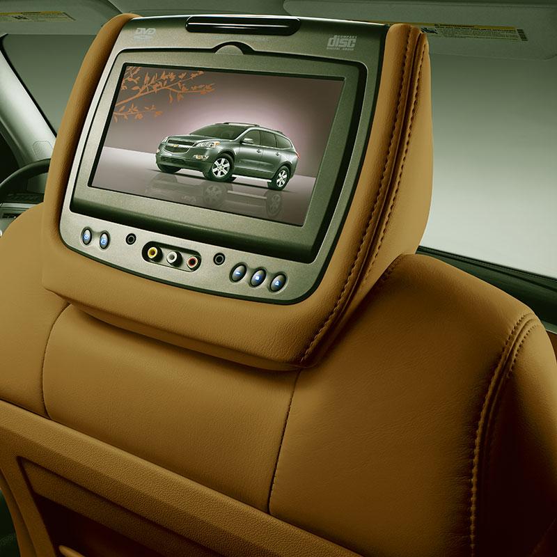 2015 Traverse Dvd Headrest System Ebony Saddle Up Leather