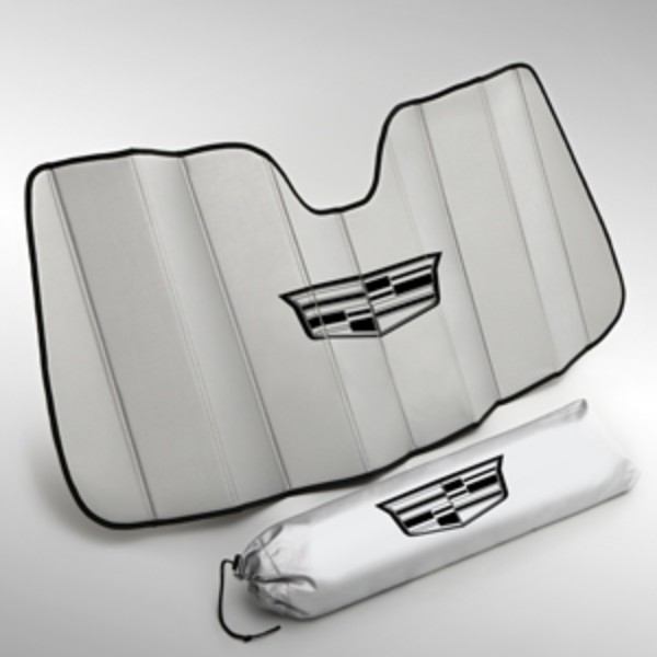 Cadillac Accessories Catalog: 2016 ELR Sunshade Package With Cadillac Logo On Carrying Bag