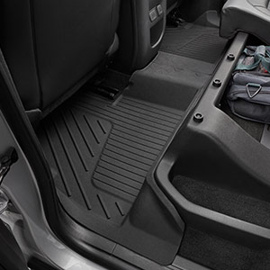 2015 Colorado Crew Cab Premium Floor Liners, Rear, Jet Black