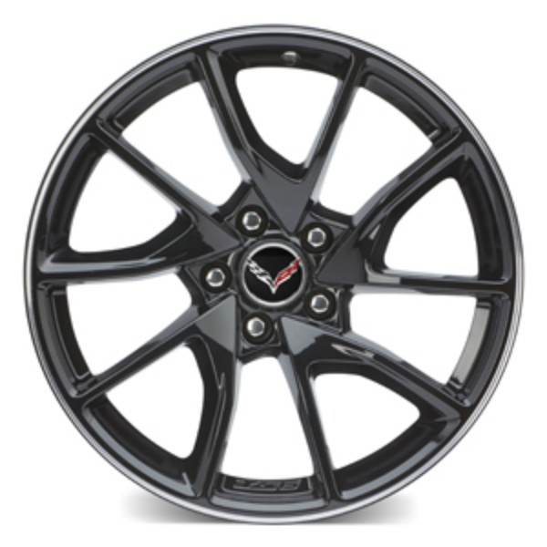 "2017 Corvette Stingray 19"" Front Wheel, Black Painted, 6Z9"