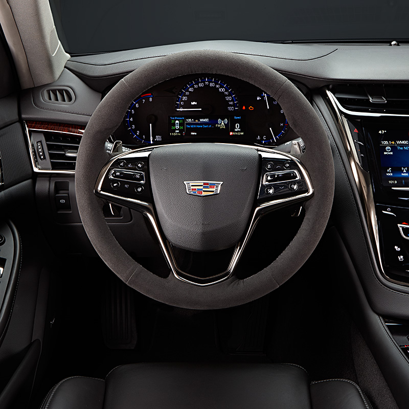 2014 Cadillac Cts Interior: 2016 CTS Sedan Steering Wheel Suede With Control Manual