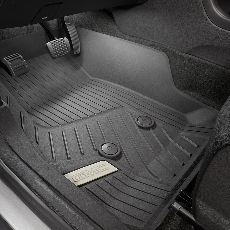 2015 Canyon All Weather Floor Liners, Front, Jet Black