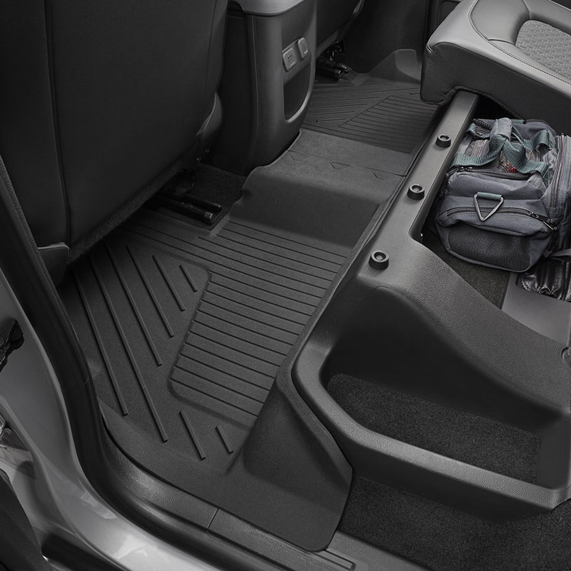 2016 Colorado Extended Cab Premium Floor Liners Rear Jet Black 23381382 Interior Colorado