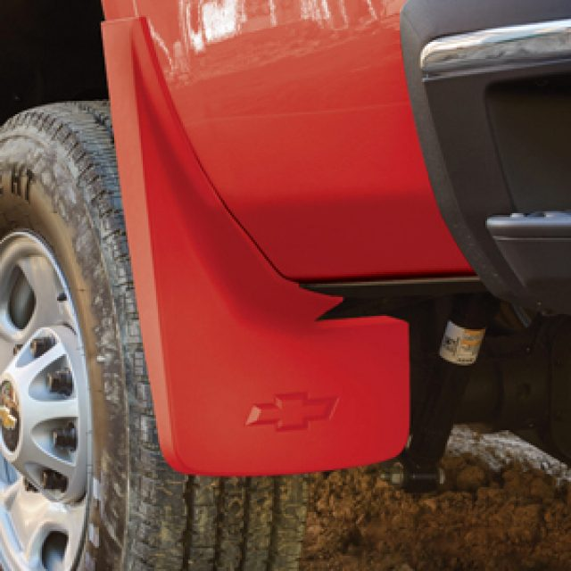 2016 Silverado 1500 Molded Splash Guards Rear Set, Red Hot