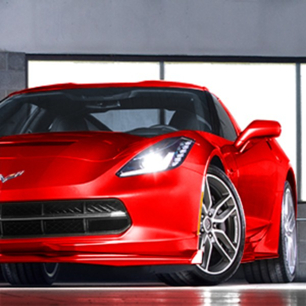 2016 Corvette Ground Effects Red