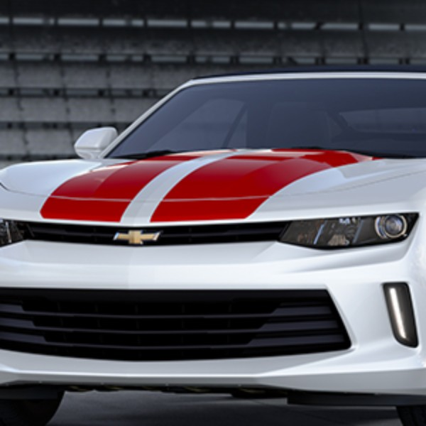2016 Camaro Hood/Decklid Rally Stripe Package, LT Coupe, Red Hot (G7C)
