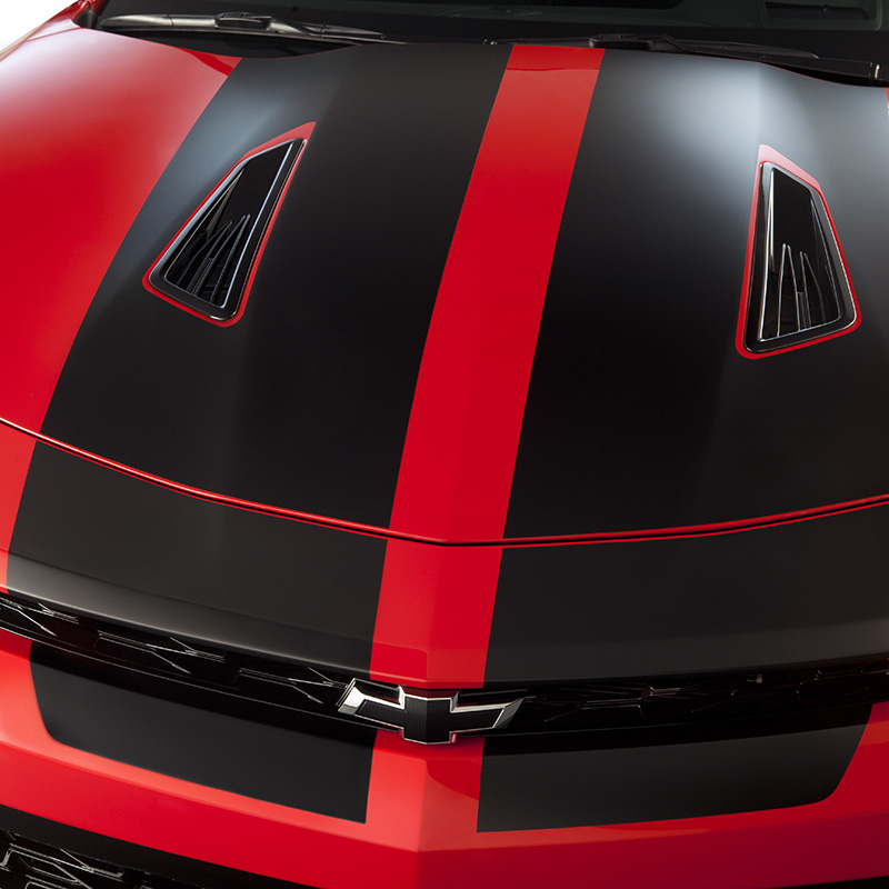 2016 Camaro Hood/Decklid Rally Stripe Package, SS Coupe, Black