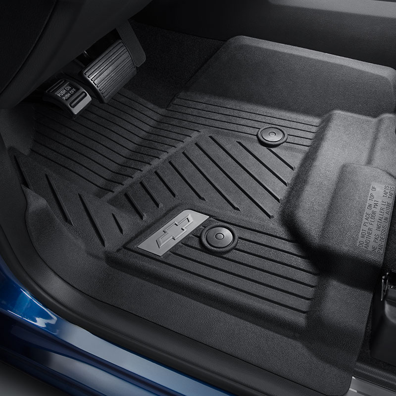 2016 Silverado 3500 Premium All Weather Floor Liners Front