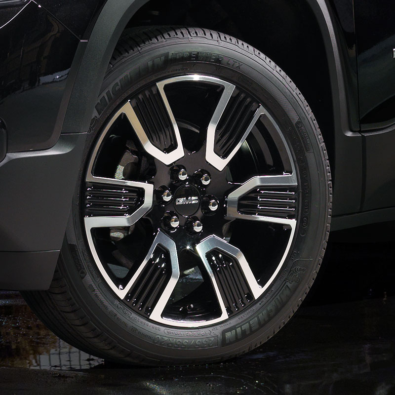 "2018 Acadia 20"" Wheel, 6-Spoke, Black with Machined Edge"