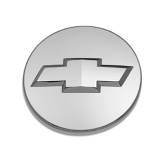 Center Cap - Bowtie Logo, Chevy Chrome - SINGLE