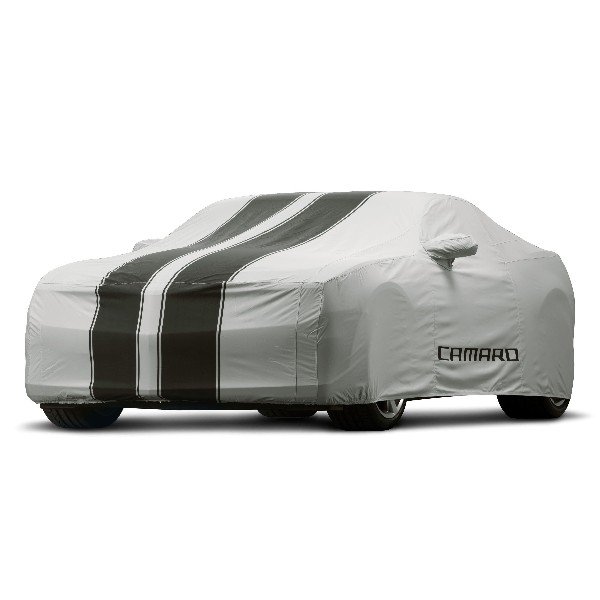 2014 Camaro Vehicle Cover Gray with Black Stripes ...