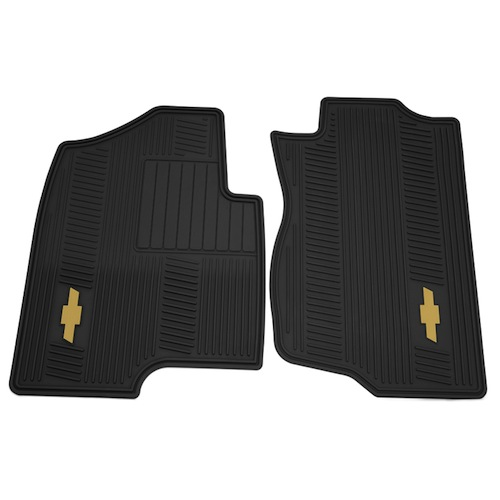 Floor Mats Front, Premium All Weather-Bowtie Logo Ebony