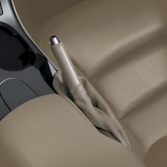 Corvette Parking Brake Handle and Boot, Cashmere