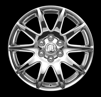 19 inch 10-Spoke wheel, Chrome, Style RV019, 4 Pack