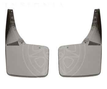 Splash Guards - Rear, White Diamond (98U)