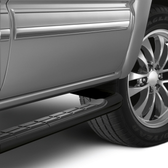 Extended Cab Assist Steps - 3 inch Round, Black