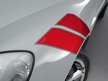 Corvette Fender Hash Marks Red - Not For Use on Grand Sport Models