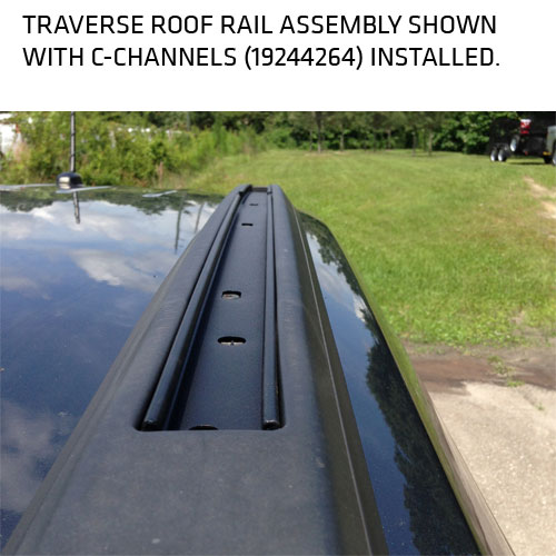 2012 Traverse Roof Rack Cross Rail Package 19243901