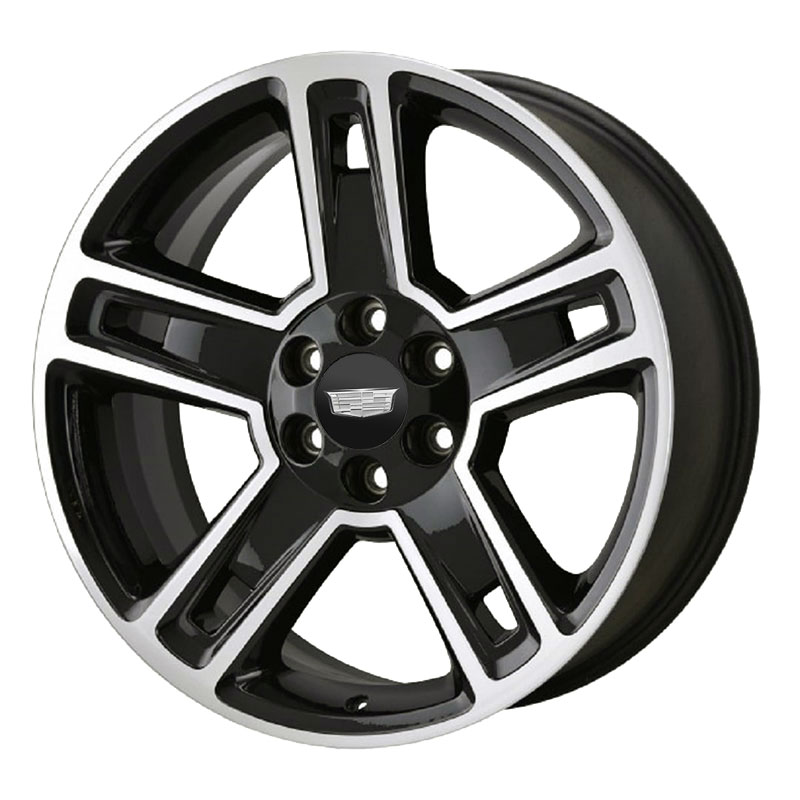 "2020 Escalade 22"" Wheel, Aluminum 5 Split-Spoke, Machine"