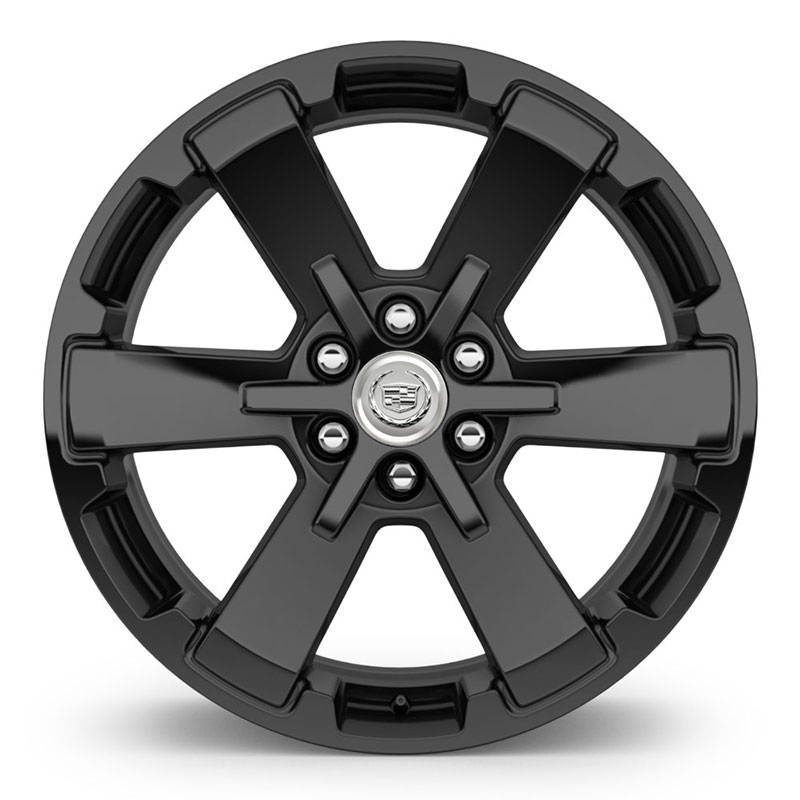 "2019 Escalade 22"" Wheel, Aluminum 6-Spoke, Gloss Black, CK162, SEV, 22"" x 9"", Single"