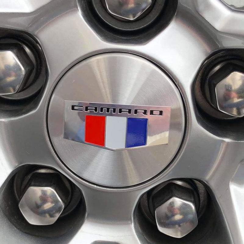 2010-2017 Chevrolet Camaro Center Wheel Caps Silver Set of 4 19352505