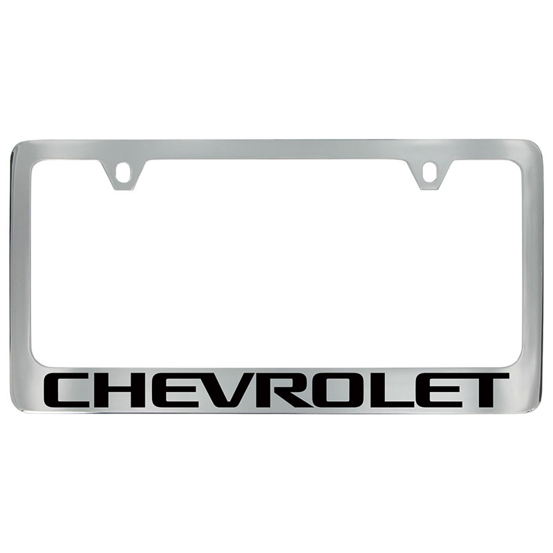 2019 Bolt License Plate Frame, Chrome with Black Chevrolet Script ...