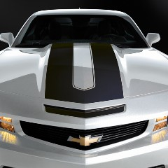 Camaro Coupe Horizontal Rally Stripe - Black 2010 2011 2012