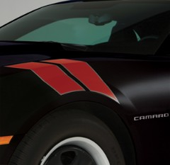 Camaro Decal/Stripe Package - Fender Hash Marks, Stripe - Victory Red